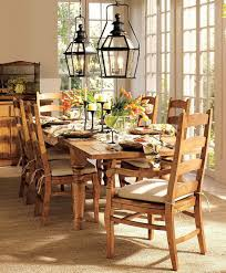 pottery barn style dining table: simple pottery barn kitchen table set rectangular maple wood dining table solid hardwood ladderback side chair