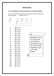 Multiplication Worksheets by rebs89 - Teaching Resources - TESmultiplying 2 digit numbers by 2 digit numbers.doc