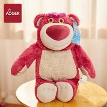 Disney <b>мягкая игрушка</b> Lotso 38 см клубничный <b>медведь</b> игрушка ...