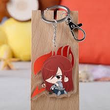<b>Anime Fairy</b> Tail Keychain <b>Fashion</b> Acrylic Natsu Lucy Heartfilia ...