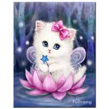 <b>FULLCANG diy</b> 5d <b>diamond painting</b> mosaic lovely cat lotus full ...