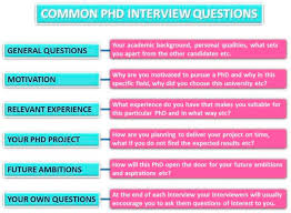 phd interview advice com common phd interview questions