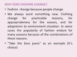 fashion   why does fashion