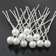 <b>10pcs</b> Pearl White Hair Pins <b>Bridal Wedding</b> Round Hairpins 8mm ...