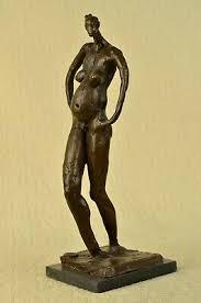 "<b>Abstract</b> Surreal <b>Pregnant</b> ""<b>Lady</b>"" Real <b>Bronze</b> Salvador Dali ..."