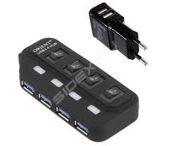 <b>ORIENT BC</b>-<b>306PS</b> (черный) - <b>USB</b> HUB - Sidex.ru
