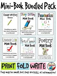 mini books english and writing skills on pinterest ela student minibook reference bundle grammar punctuation essays etc
