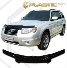 Арт.258 <b>Дефлектор капота Classic черный</b> Subaru Forester 2005 ...
