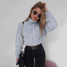 <b>Simenual</b> Twist <b>turtlenecks sweaters</b> for women fashion slim ...