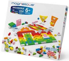 <b>Мозаика</b> мягкая магнитная, Magneticus (654 элементов, 11 ...