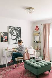 writing letters in a feminine office chic mint teal office
