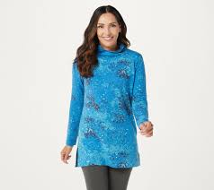 Cuddl Duds Comfortwear <b>Cowl Neck Long Sleeve</b> Tunic Top - QVC ...