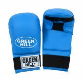 Перчатки-<b>накладки для каратэ</b> WKF KMC-6083 <b>Green</b> Hill