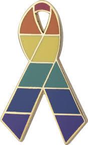 <b>Rainbow</b> Awareness <b>Ribbons</b>   Lapel Pins   Personalized Cause