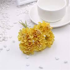 Online Shop <b>6 pcs</b>/ <b>lot</b> cheap Mini Silk Daisy Artificial Rose Flowers ...