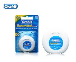 Интернет-магазин <b>Oral B Essential</b> Flosser гладкая плоская <b>нить</b> ...