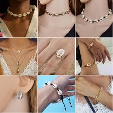 SMJEL <b>New</b> Bohemian Shell <b>Jewelry Fashion</b> Beach Seashell ...