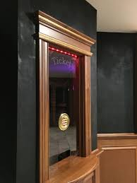 themed family rooms interior home theater: ticket booth for home theater  ticket booth for home theater
