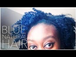 I Dyed My <b>Natural</b> Hair <b>Blue</b> - YouTube