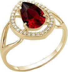 Золотое <b>кольцо Инталия 13273-006-1</b> с бриллиантами, гранатом ...
