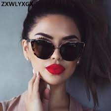 <b>ZXWLYXGX Cat eye</b> Sunglasses Women Brand Designer Vintage ...