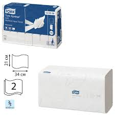 <b>Полотенца</b> бумажные, 136 штук, <b>TORK</b> (Система H2) <b>Advanced</b> ...
