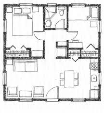 Astounding Mini st Square House Plans Give You Optimum Space        Architecture Large size Simple Square House Plans Model House Floor Plan Without Legend Architecture