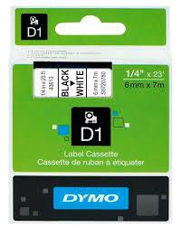 Купить <b>Картридж DYMO D1</b>, черный / белый / 6мм, черный ...