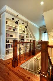 bookshelf lighting ideas hall traditional with wood floor white casing bookcase lighting ideas