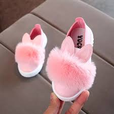 SAGACE Shoes Women Cute <b>Rabbit ears</b> Fur Sneaker Bunny Soft ...
