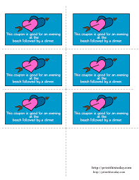 r tic love coupons printable r tic coupons for an evening at beach