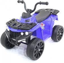 <b>Детский квадроцикл R1</b> на резиновых колесах 6V - 3201-BLUE
