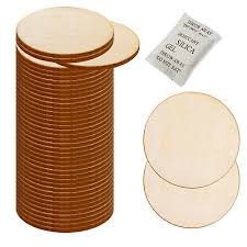 <b>50pcs Unfinished</b> Wooden Round Discs Embellishments DIY Rustic ...