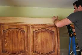 kitchen cabinet top molding he used xx pieces of pine to make the cabinets appear taller and then
