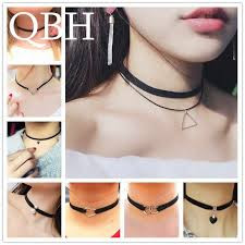 <b>Fashion</b> Gothic <b>Multilayer Chokers Necklace</b> For Women Triangle ...