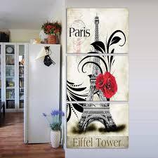 Online Shop <b>Unframed</b> 3 <b>Panel</b> Paris Eiffel Tower Europe Wall Art ...