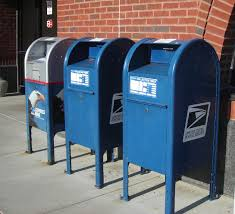 Image result for blue mailbox
