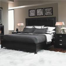 exciting design ideas of awesome bedroom with black wooden bed frames and black high leather headboard awesome bedrooms black