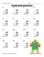Subtraction worksheets, Worksheets and Love this on PinterestOne for each day of the week. That is 75 math fact problems. No Regrouping. Information: Double Digit Subtraction Worksheets.