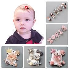 5Pcs Baby Hair Clips Cute Baby Girl Bows Crown Hair Clips Kids ...