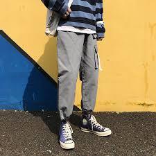 2019 <b>Man Streetwear Sport Pants</b> 2019 Autum Man'S Loose Pocket ...