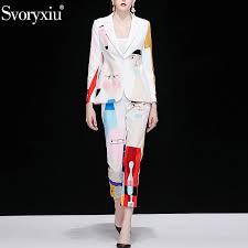 <b>Svoryxiu Autumn</b> Designer Fashion Two Piece Set Women's Long ...