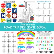 printable road trip book printable road trip activity book by u create