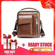 <b>High Quality Men's Shoulder</b> Bags PU Leather Sling bag Cross ...