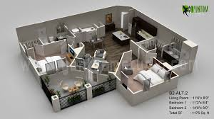 floor plans:  images about interactive d floor plans on pinterest d two bedroom apartments and design