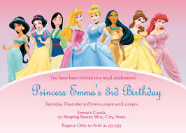 disney princesses birthday invitations disney princess birthday disney princess birthday invitations custom