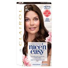 Clairol Nice'n Easy <b>Permanent Hair Color</b> Crème 4 Dark Brown, 1 ...