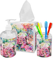 accessories set personalized potty floral