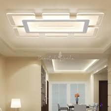 Rectangular <b>LED</b> Flush <b>Light</b> Minimalist Acrylic Ultrathin Ceiling ...
