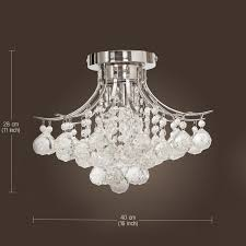 Modern Crystal Chandeliers For Dining Room Chrome Finish Crystal Chandelier With 3 Lights Mini Style Flush